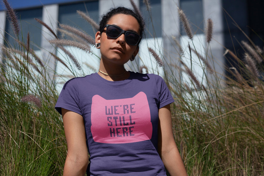 Pink Pussy Hat - We're Still Here - Women's Triblend Tshirt