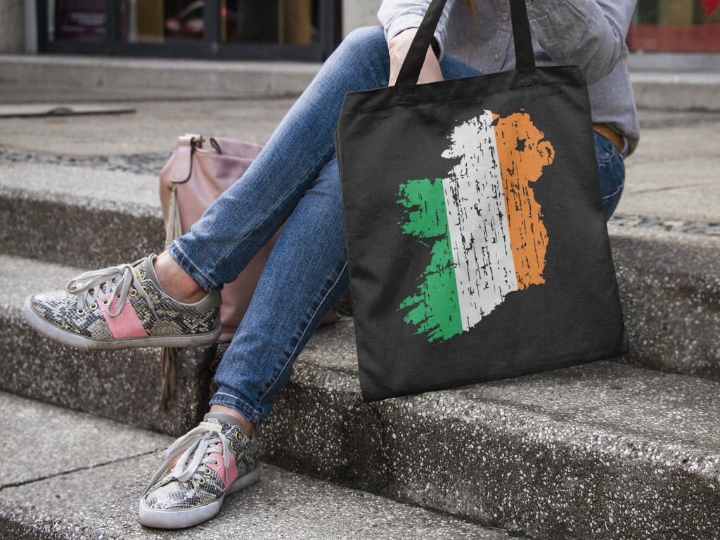 Distressed Ireland Tote bag - Irish Tote Bag - Irish Flag Tote - St. Patrick's Day - Irish Tote - Irish Pride - Irish Flag - St Patrick's Da