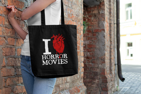 I Heart Horror Movies - Canvas Tote Bag