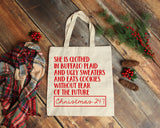 She is Clothed in Buffalo Plaid and Ugly Sweaters - Christmas 24/7 - Christmas Tote Bag