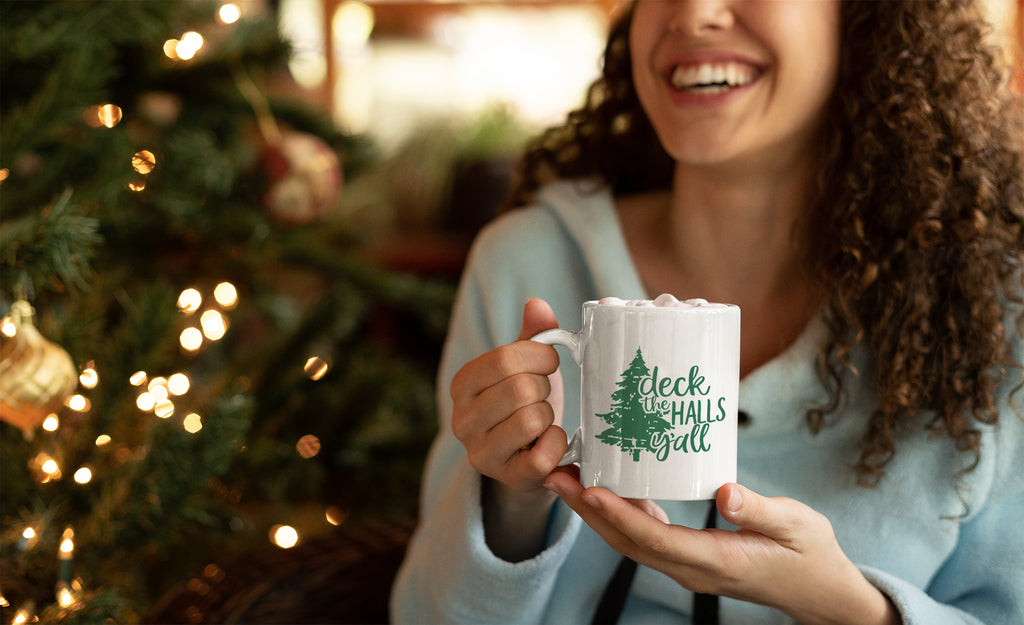 Deck the Halls Y'all - Southern Christmas Mug