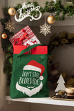 Don't Stop Believing - Santa -  Christmas Tote Bag
