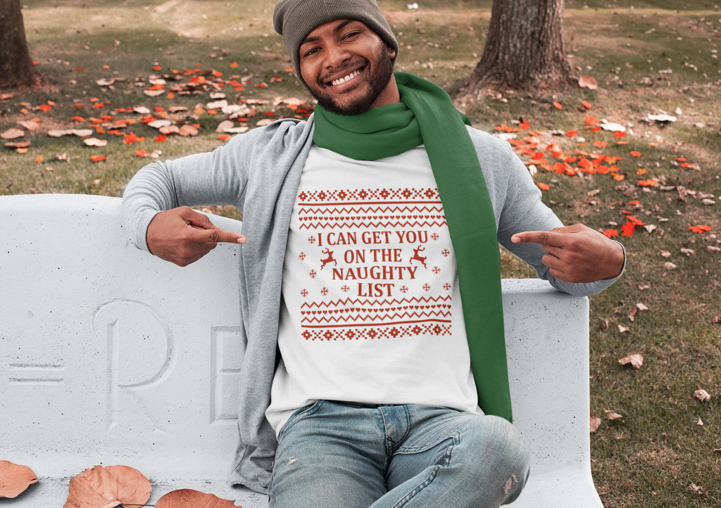 I Can Get You On the Naughty List - Men's Triblend Tshirt