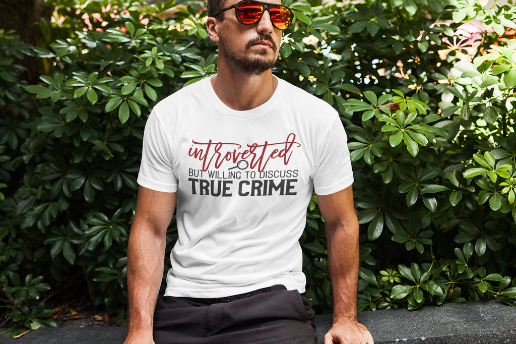Introverted but Willing to Discuss True Crime - Men's Triblend Tshirt