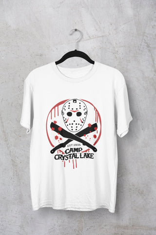 Camp Crystal Lake  - Friday the 13th - Horror Movie Men's Triblend T-shirt