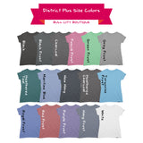 Durham, North Carolina - Plus Size Women's Triblend Tshirt