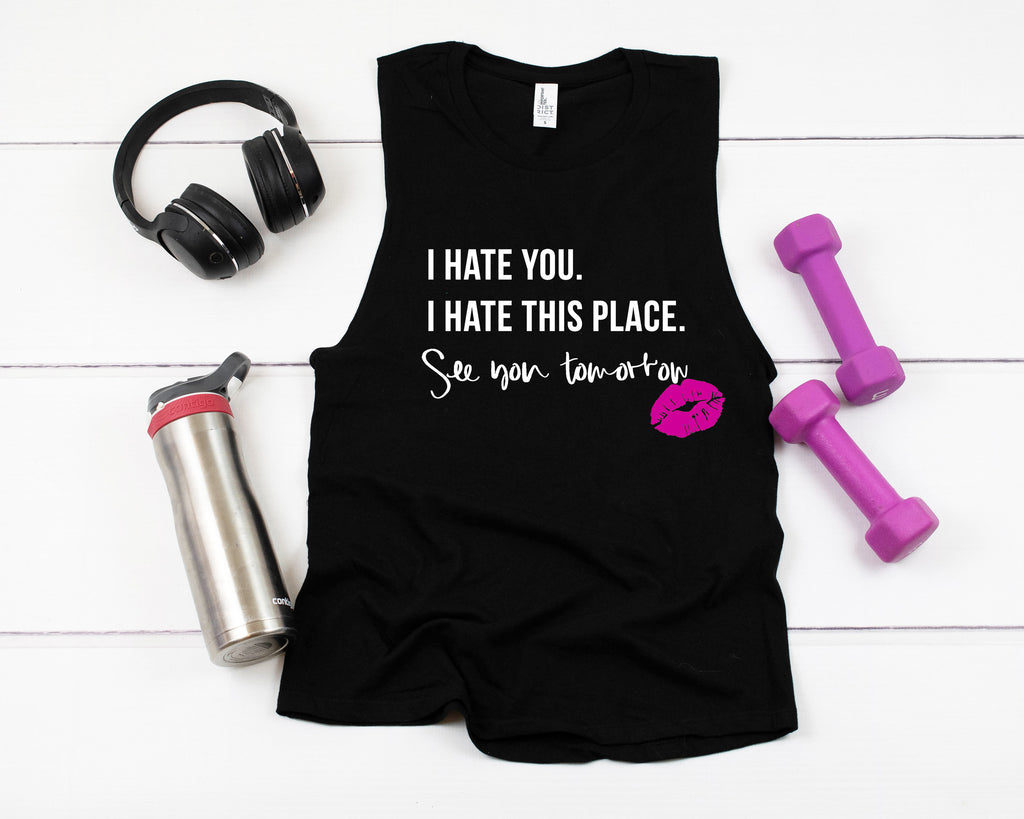I Hate You. I Hate this Place. See You Tomorrow. - Plus Size Women's Triblend Tank Top