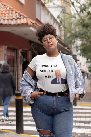 Will You Shut Up Man? - Presidential Debate 2020 - Plus Size Women's Triblend Tshirt