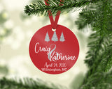 First Christmas as Mr and Mrs Ornament, Mr and Mr, Mrs and Mrs, Personalized Photo Ornament, Wedding Gift, Keepsake, Gift for Newlyweds
