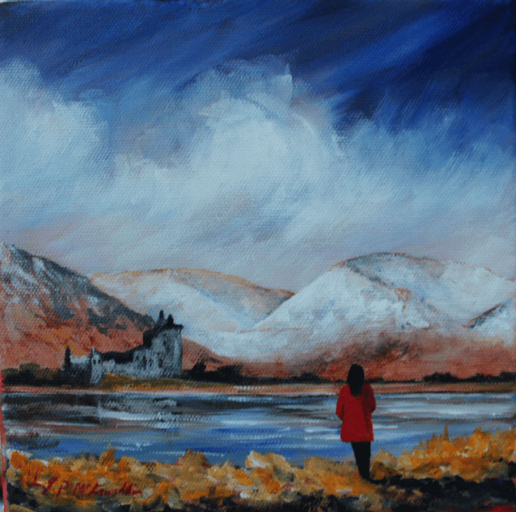 Kilchurn red coat Hansel Village Exhibition