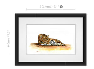 Watercolour Leopard painting