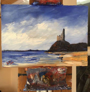 Greenan castle oil painting