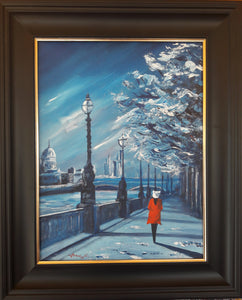 London Blue. Original painting on canvas