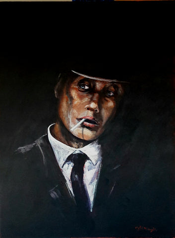 Tommy Shelby. Original painting
