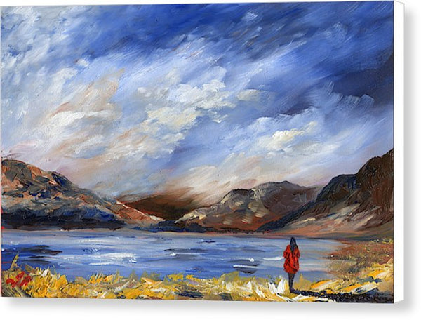 Highland Red Coat - Canvas Print
