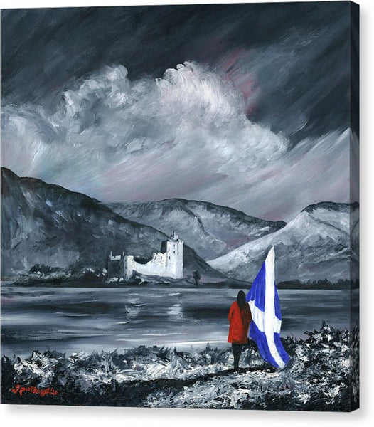 Kilchurn Red Coat - Canvas Print