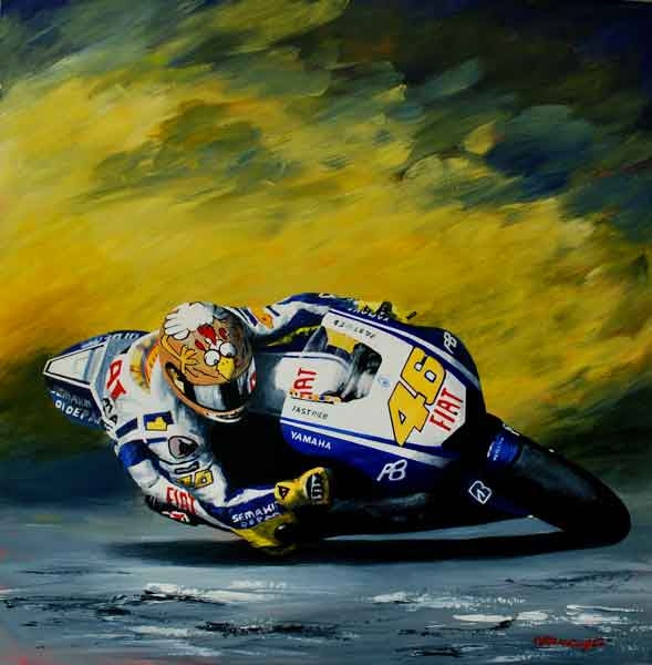 Valentino Rossi by J P McLaughlin