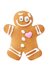 gingerbread man with piped detail