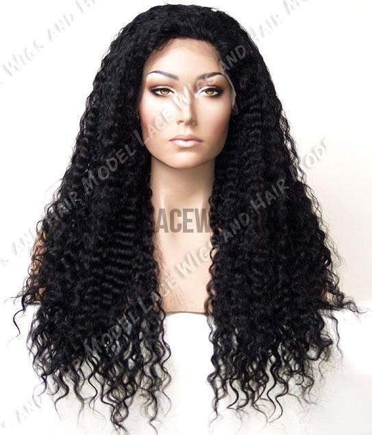 Black Deep wave Full Lace Wig | Model Lace Wigs and Hair