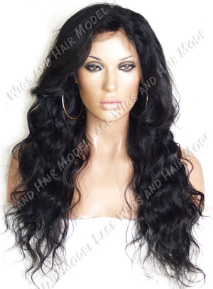 Black Wavy Lace Front Wig | Model Lace Wigs and Hair