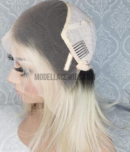 blonde oblong lace front wig cap