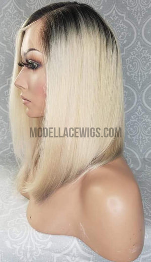 blonde oblong lace front wig