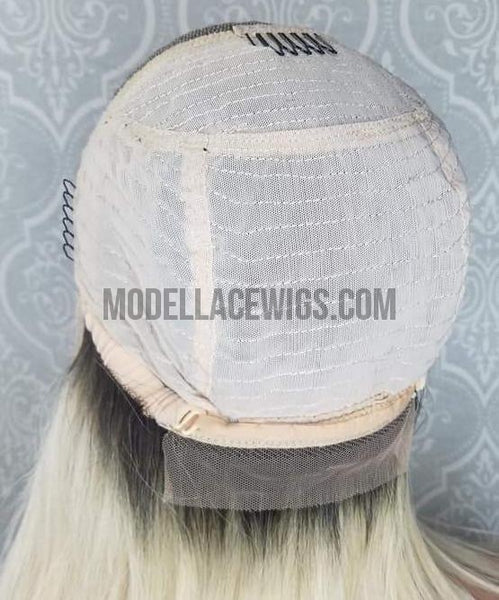 blonde oblong lace front wig cap design