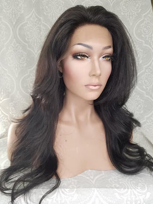 side view 360 lace front wig