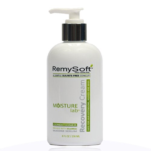 RemySoft Moisturelab System - Safe for Hair Extensions, Weaves and Wigs - Salon Formula Shampoo, Conditioner & Serum - Gentle Sulfate-free Lather