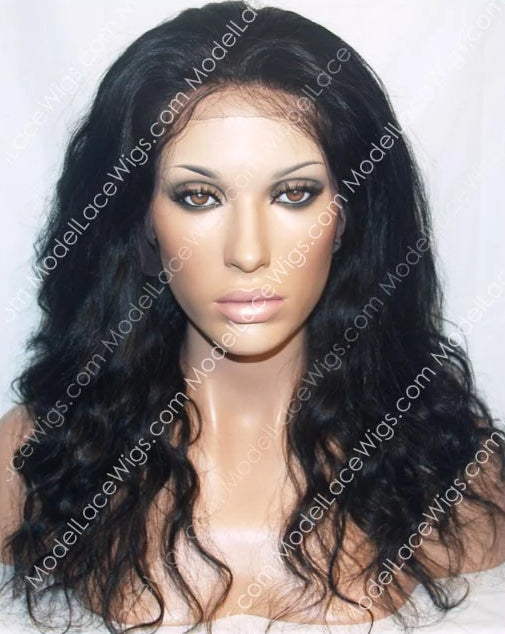 Black Wavy Full Lace Wig