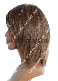 Short Brown Lace Wig | Model Lace Wigs and Hair