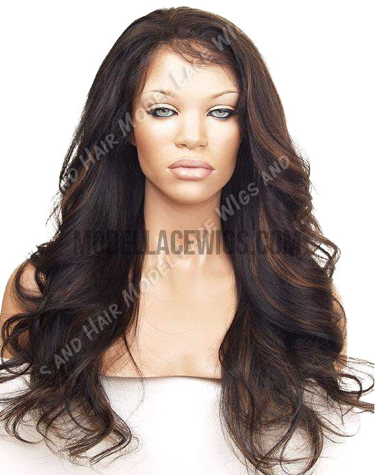 A subtle way to spice up your look is with this multidimensional auburn highlighted lace wig. This shade flatters several skin tones and adds depth to your features. This beautiful auburn shade is the perfect way to feel confident and sexy without too much effort.  These highlights will no doubt keep you on everyone's radar. 😍