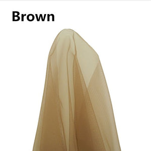 "Swiss Lace Net for Making Lace Wig- 1 Yard (36""x40""), Brown Color"