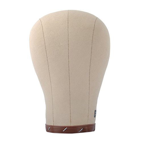 "20-24"" Cork Canvas Block Head Mannequin Head Wig Display Styling Head With Mount Hole 22"""