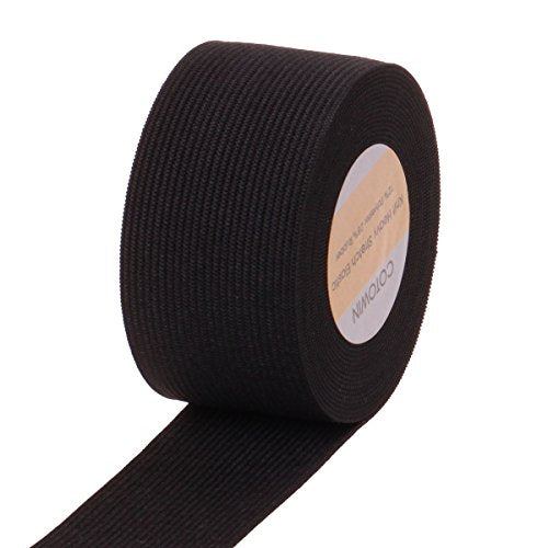 1.5 Inch Wide Black Knit Heavy Stretch High Elasticity Elastic Band 5 Yards