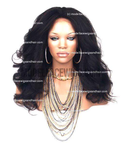 Kinky Straight Full Lace Wig | Model Lace Wigs and Hair