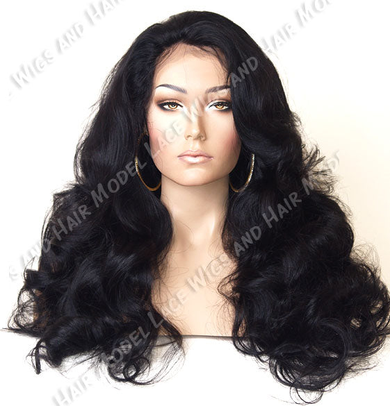 Full Lace Wig (Lennox) Item#: 4879-Model Lace Wigs and Hair