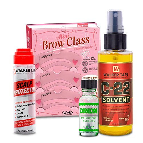 Lace Front Glue, Scalp Protector, Walker C22 Wig Adhesive Remover - Best Hairpiece Supply Kit For Wigs, Extensions, Toupees, and Hair Systems
