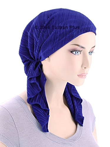 The Bella Scarf Chemo Turban Head Scarves Pre-Tied Bandana For Cancer Dark Denim