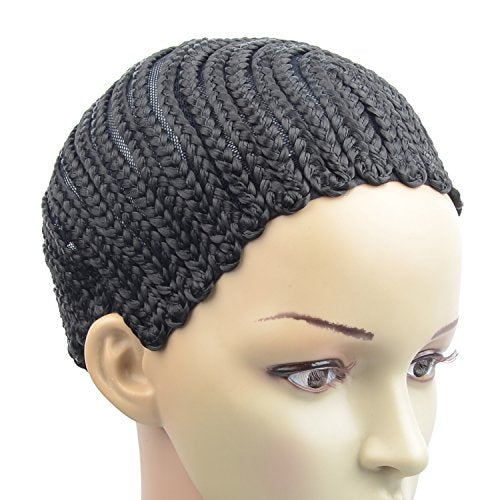 Cornrow Crochet Braided Wig Cap Adjustable Medium Size Crochet Wig Cap (U Part)