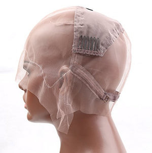 Pre-Made Cap for Making Wigs with Adjustable Straps and Combs (Small Size Cap)