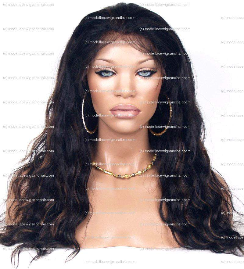 IN-STOCK Lace Front and Nape Wig (Haidee) Item#: FN15-Model Lace Wigs and Hair