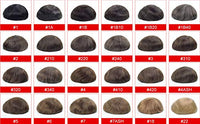 Toupee Thin Skin Men's Toupee Real Human Hair Pieces for Men Color #7 Toupee For Men (6 Colors Available)