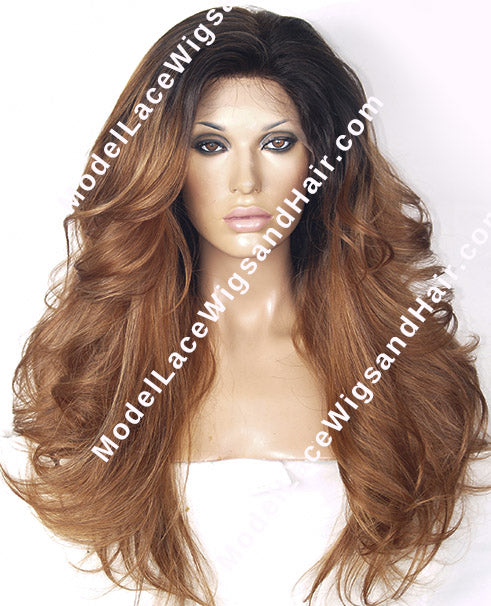 Ombre Full Lace Wig | Model Lace Wigs and Hair