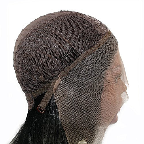 Heat Resistant Natural Hairline Silky Straight Synthetic Lace Front Wig