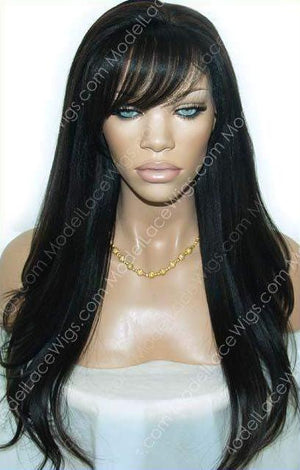 Lace Wig With Bangs | Model Lace Wigs and Hair