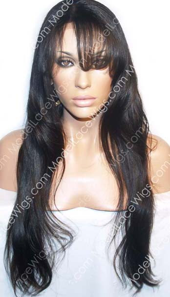 Full Lace Wigs with Bangs | Model Lace Wigs and Hair