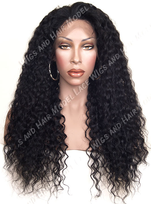 Full Lace Wig (Gazelle) Item#: 896-Model Lace Wigs and Hair