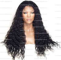 Black Wavy Full Lace Wig | Model Lace Wigs and Hair