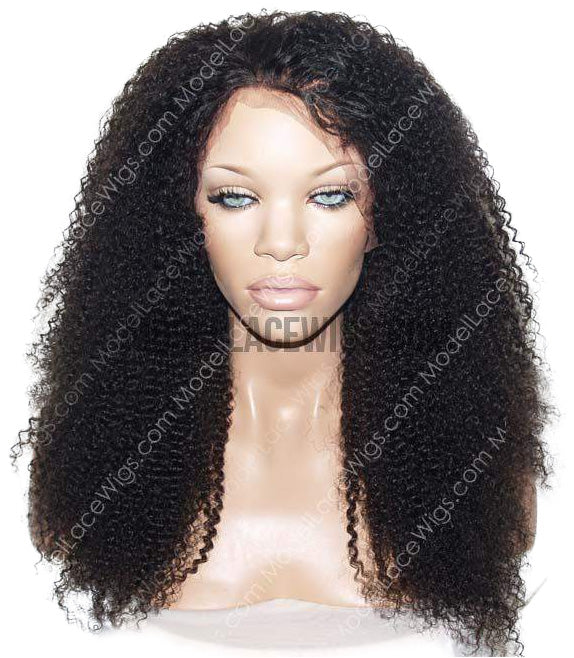 Afro Kinky Curly 360 Lace Frontal Wig Item# 554F • Light Brn Lace
